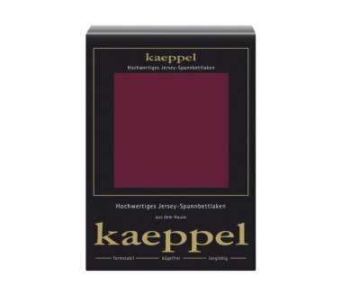 Kaeppel Jersey Spannbettlaken Fb. burgund Gr. 100 x 200 cm