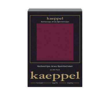 Kaeppel Jersey Spannbettlaken Fb. burgund Gr. 140-160 x...