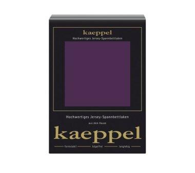 Kaeppel Jersey Spannbettlaken Fb. brombeer Gr. 140-160 x...
