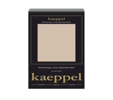 Kaeppel Jersey Spannbettlaken Fb. champignon Gr. 140-160...