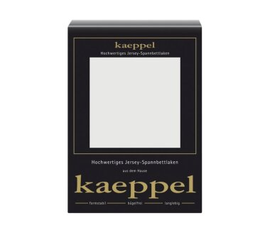 Kaeppel Jersey Spannbettlaken Fb. silber Gr. 180 x 200 cm