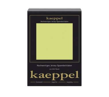 Kaeppel Jersey Spannbettlaken Fb. apfel Gr. 180 x 200 cm