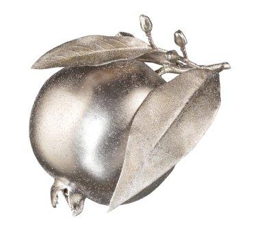 Deko-Granatapfel silberfarben, 3er Set, Ø ca. 12,5 cm