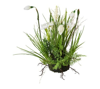 Kunstpflanze Frühlingsmix, Farbe weiß, mit...