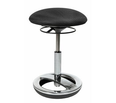 Hocker, Sitzen in Bewegung und 360° Rotation, schwarz