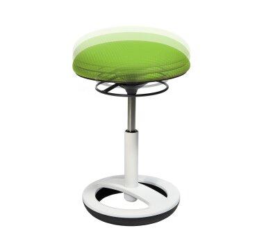 Hocker, Sitzen in Bewegung und 360° Rotation, grün