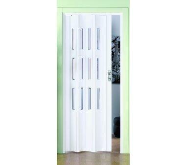 Kunststoff Falttür Luca, 3 Fensterreihen Facette,...
