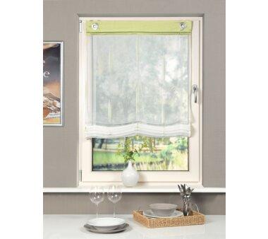 raff rollo wei gr n 80x140 cm home wohnideen. Black Bedroom Furniture Sets. Home Design Ideas