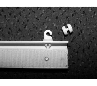 Paneelwagen aus Kunststoff weiss für Schiebegardinen Breite 60 cm