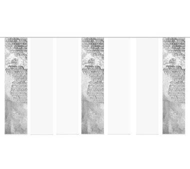7er-Set Schiebegardine ANNA blickdicht, Höhe 245 cm,...