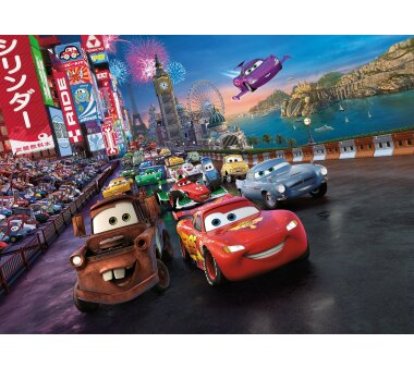 Fototapete SUNNY DECOR, CARS RACE, 4 Teile, BxH 254 x 184...