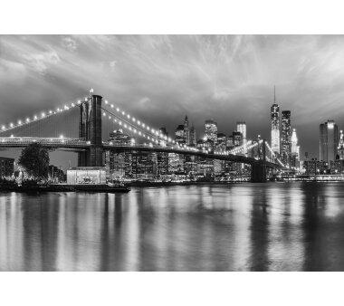 Fototapete SUNNY DECOR, BROOKLYN BRIDGE B/W, 8 Teile, BxH...