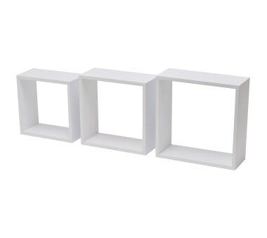 Duraline Regalwürfel 3er Set, Farbe weiß