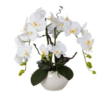 Kunstpflanze Orchideen-Arrangement, Farbe weiß,...