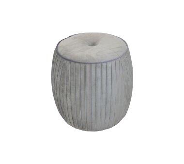 Sitzpouf 4465, mit Samtbezug, Farbe grau