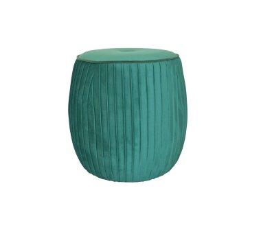 Sitzpouf 4465, mit Samtbezug, Farbe smaragdgrün