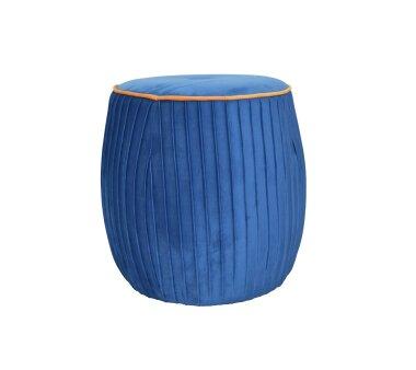 Sitzpouf 4465, mit Samtbezug, Farbe azurblau