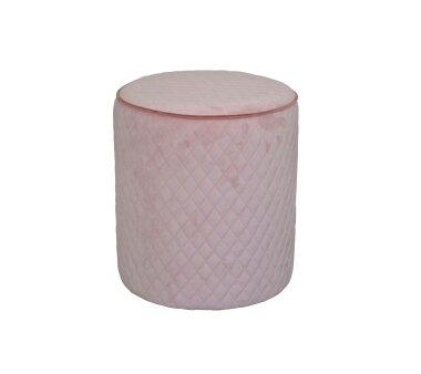 Sitzpouf 4466, mit Samtbezug, Farbe rose