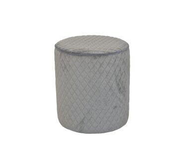 Sitzpouf 4466, mit Samtbezug, Farbe grau