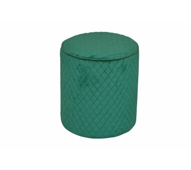 Sitzpouf 4466, mit Samtbezug, Farbe smaragdgrün