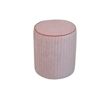 Sitzpouf 4467, mit Samtbezug, Farbe rose
