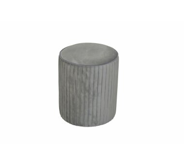 Sitzpouf 4467, mit Samtbezug, Farbe grau