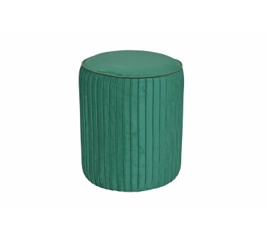 Sitzpouf 4467, mit Samtbezug, Farbe smaragdgrün