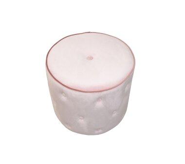 Sitzpouf 4471, mit Samtbezug, Farbe rose