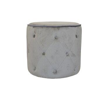 Sitzpouf 4471, mit Samtbezug, Farbe grau