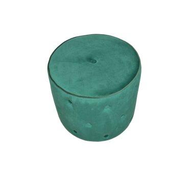 Sitzpouf 4471, mit Samtbezug, Farbe smaragdgrün