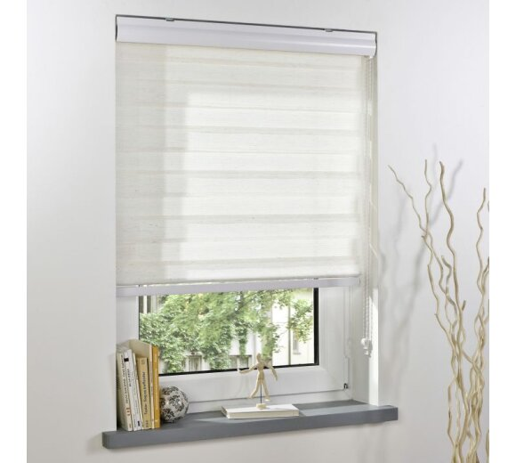 liedeco duo rollo mit blende natur 60x160cm kaufen. Black Bedroom Furniture Sets. Home Design Ideas