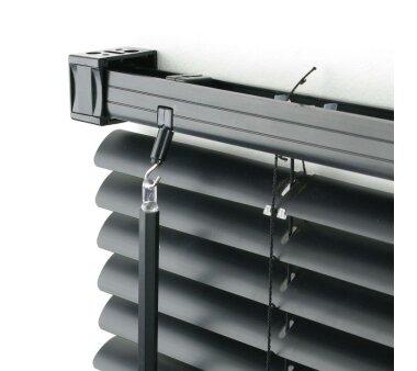 LIEDECO Jalousie aus PVC  080 x 160 cm  Fb. schwarz