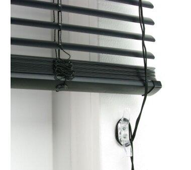 LIEDECO Jalousie aus PVC  080 x 220 cm  Fb. schwarz