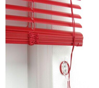 LIEDECO Jalousie aus PVC  090 x 160 cm  Fb. rot