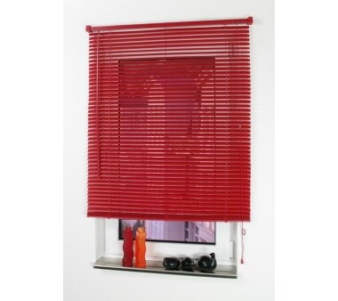 LIEDECO Jalousie aus PVC  110 x 160 cm  Fb. rot