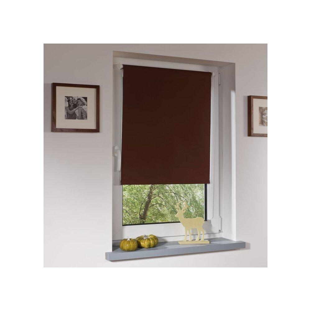 rollo thermo rollo braun 120x150 cm liedeco. Black Bedroom Furniture Sets. Home Design Ideas