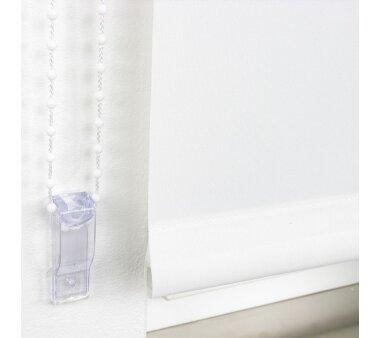LIEDECO Seitenzugrollo Uni-Tageslicht 092 x 240 cm Fb. weiß