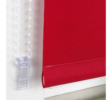 LIEDECO Seitenzugrollo Uni-Tageslicht 092 x 240 cm Fb. rot