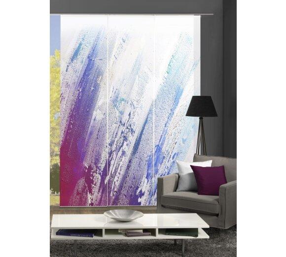 Farbe grau Höhe 245 cm 3x Dessin blickdicht 3er-Set Flächenvorhang GRACE