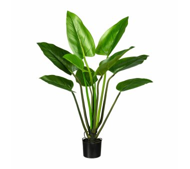 Höhe ca inkl grün 65 cm Kunstsstoff-Topf Kunstpflanze Splitphilodendron
