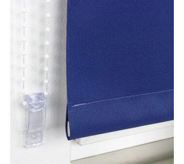 LIEDECO Seitenzugrollo Uni-Tageslicht 142 x 180 cm Fb.  dunkelblau