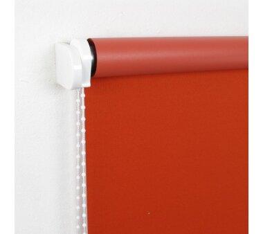 LIEDECO Seitenzugrollo Uni-Verdunkelnd  062 x 180 cm  Fb. terracotta