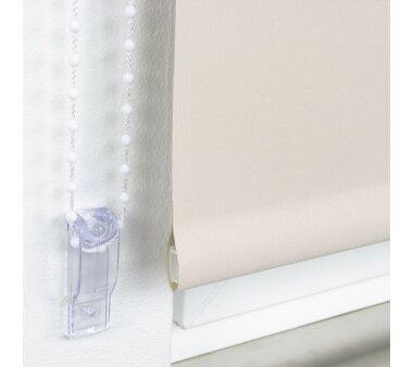 LIEDECO Seitenzugrollo Uni-Verdunkelnd  082 x 180 cm  Fb. cream