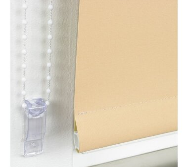 LIEDECO Seitenzugrollo Uni-Verdunkelnd  102 x 180 cm  Fb. apricot