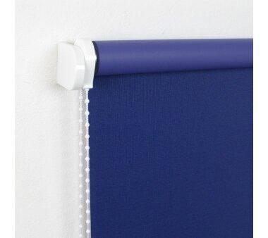 LIEDECO Seitenzugrollo Uni-Verdunkelnd  122 x 180 cm  Fb. dunkelblau