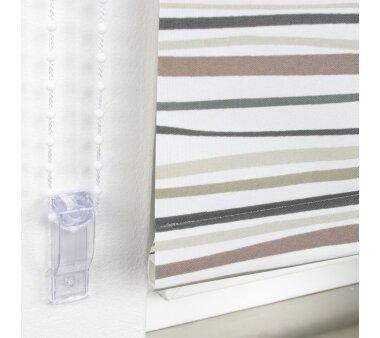 LIEDECO Seitenzugrollo Dekor-Tageslicht 092 x 180 cm  Fb. Streifen braun / anthrazit