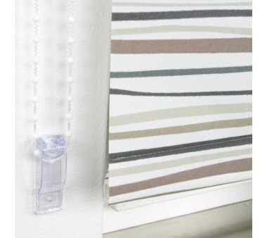 LIEDECO Seitenzugrollo Dekor-Tageslicht 102 x 180 cm  Fb. Streifen braun / anthrazit