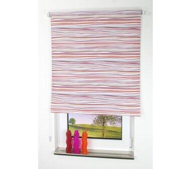 LIEDECO Seitenzugrollo Dekor-Tageslicht 062 x 180 cm  Fb. Streifen terra / bordeaux