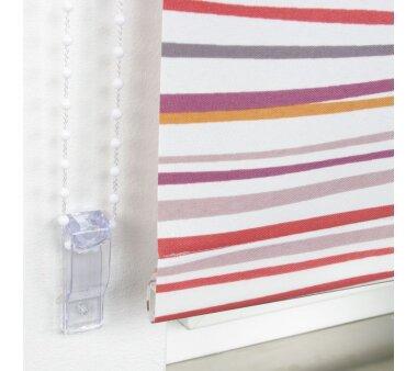 LIEDECO Seitenzugrollo Dekor-Tageslicht 112 x 180 cm  Fb. Streifen terra / bordeaux