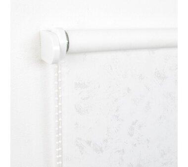 LIEDECO Seitenzugrollo Dekor-Tageslicht 142 x 180 cm  Fb. Wolken weiß